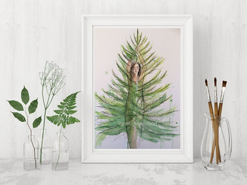 Pine Tree Woman -Signed Giclee Print