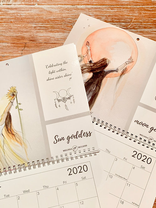 Moon Goddess 2020 Calendar Includes FREE Shipping in Australia