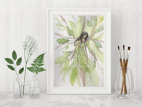 Oak Woman -Signed Giclee Print