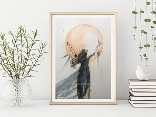 Moon Goddess -Signed Giclee Print