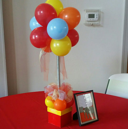 Balloon Table Centerpiece - Event Centerpiece - Party Centerpieces - Anniversary Balloons