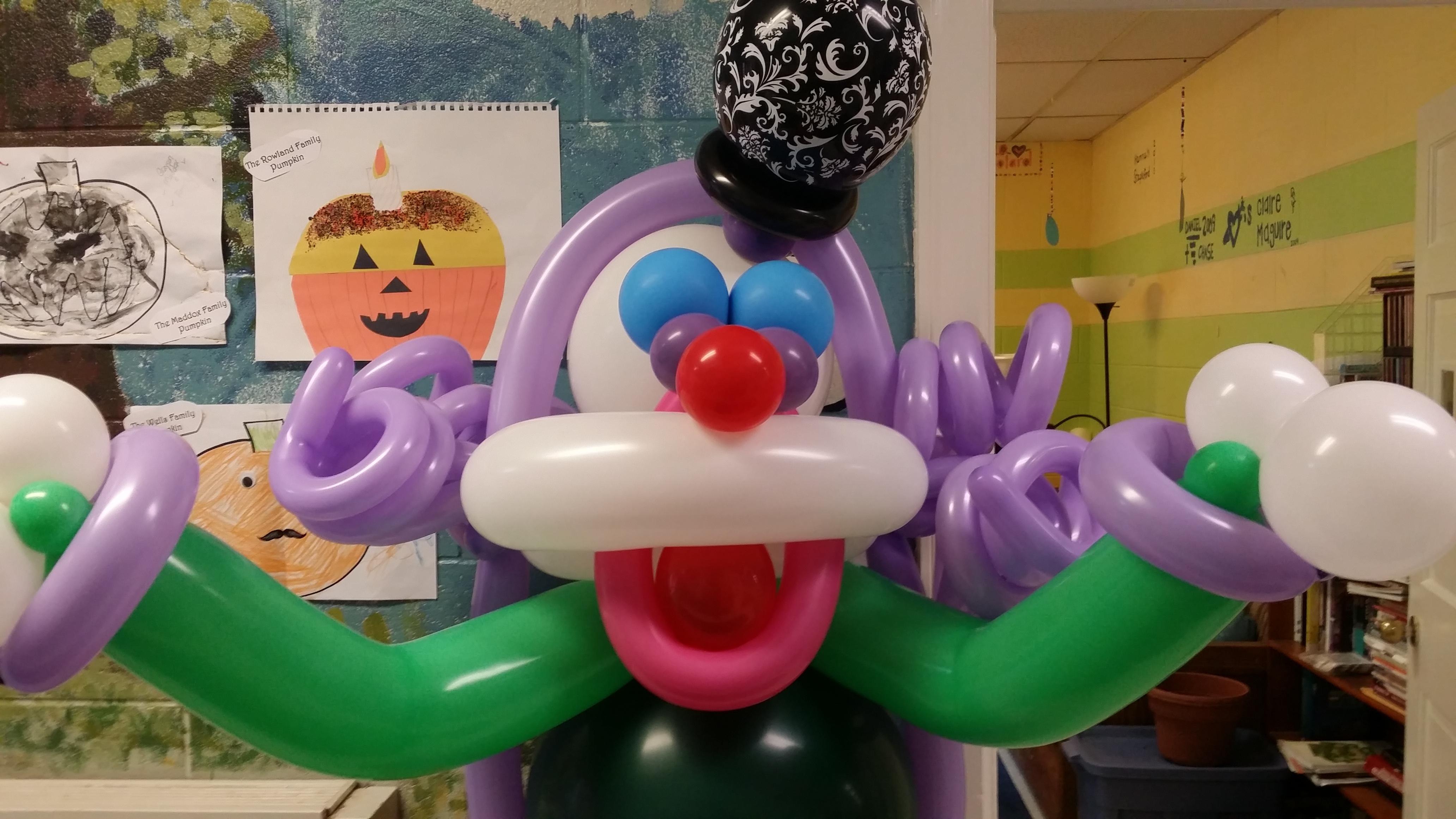 Trunk-or-Treat 2015 -Clown - Circus Balloon decor -abc Gypsy Events - Short Pump VA