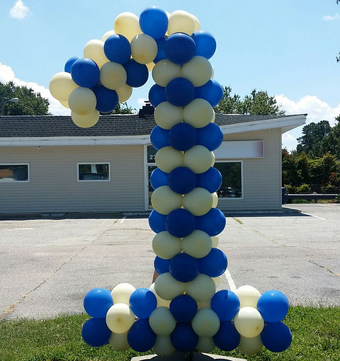 Birthday Balloon Columns - Balloon Decor - Mickey Minnie Mouse
