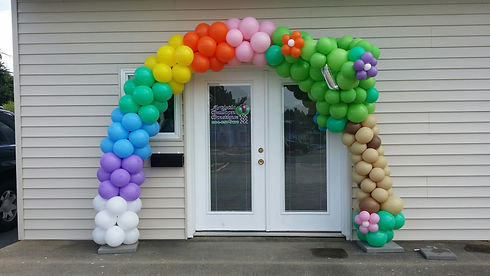 Rainbow Balloon Arch - Tree Balloon Arch - Balloon Decor