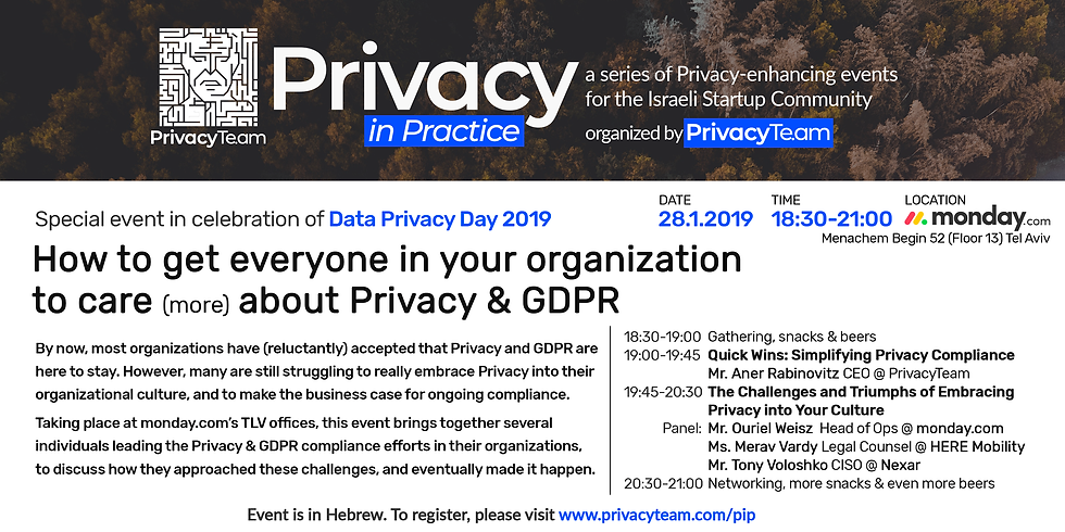 How to get everyone in your organization to care about Privacy & GDPR