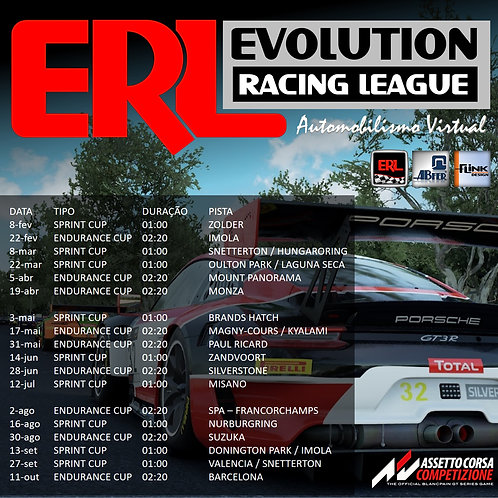 ERL-GT3 Series 2021 - Pacote Anual