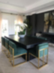 Concrete dining table by Concrete Design