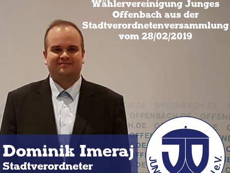 JO lehnt Grundsteuererhöhung ab- Haushaltsrede unseres JO-Stadtverordneten Dominik Imeraj