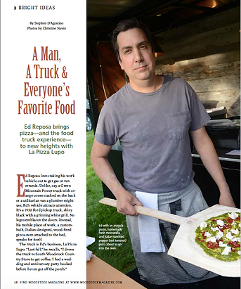 First page of La Pizza Lupo article in Woodstock Magazine.