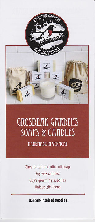 Consumer goods soap and candle brochure. Written by Vermont-based copywriter Stephen D'Agostino