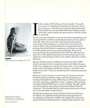 Article about Haynes Ownby for his catalog of a show at the Cape Cod Museum of Art. Page 2.