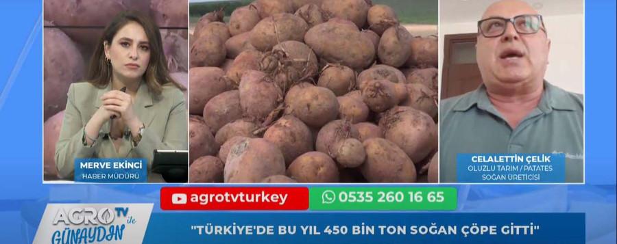"""""""TÜRKİYE'DE BU YIL TOPLAMDA 450 BİN TON SOĞAN DEPOLARDA ÇÜRÜDÜ"""""""