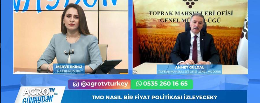 TMO GENEL MÜDÜRÜ GÜDAL AGRO TV'DE SORULARI YANITLADI