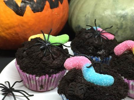 Halloween Dirt Cupcakes