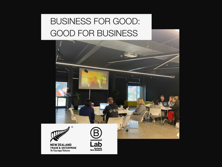 Piloting Business for Good with New Zealand Trade & Enterprise