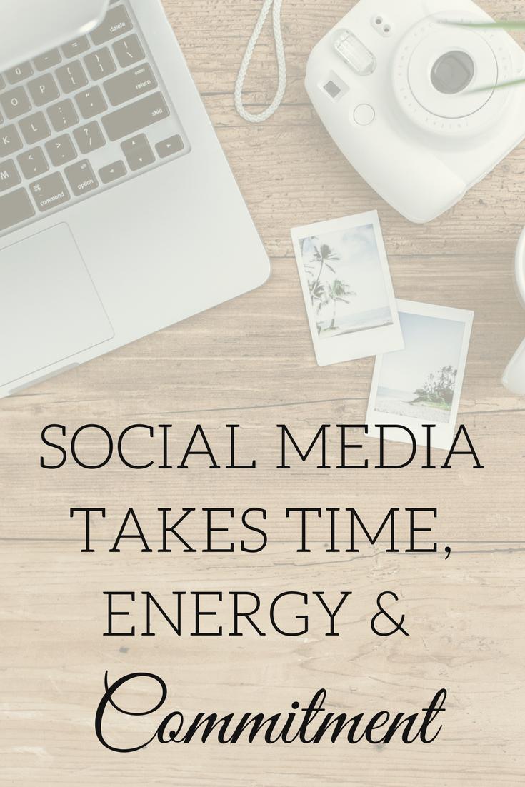 social media time energy commitment