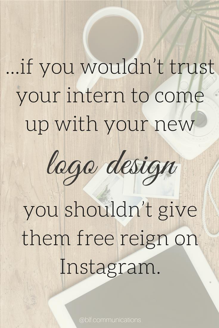intern logo design instagram
