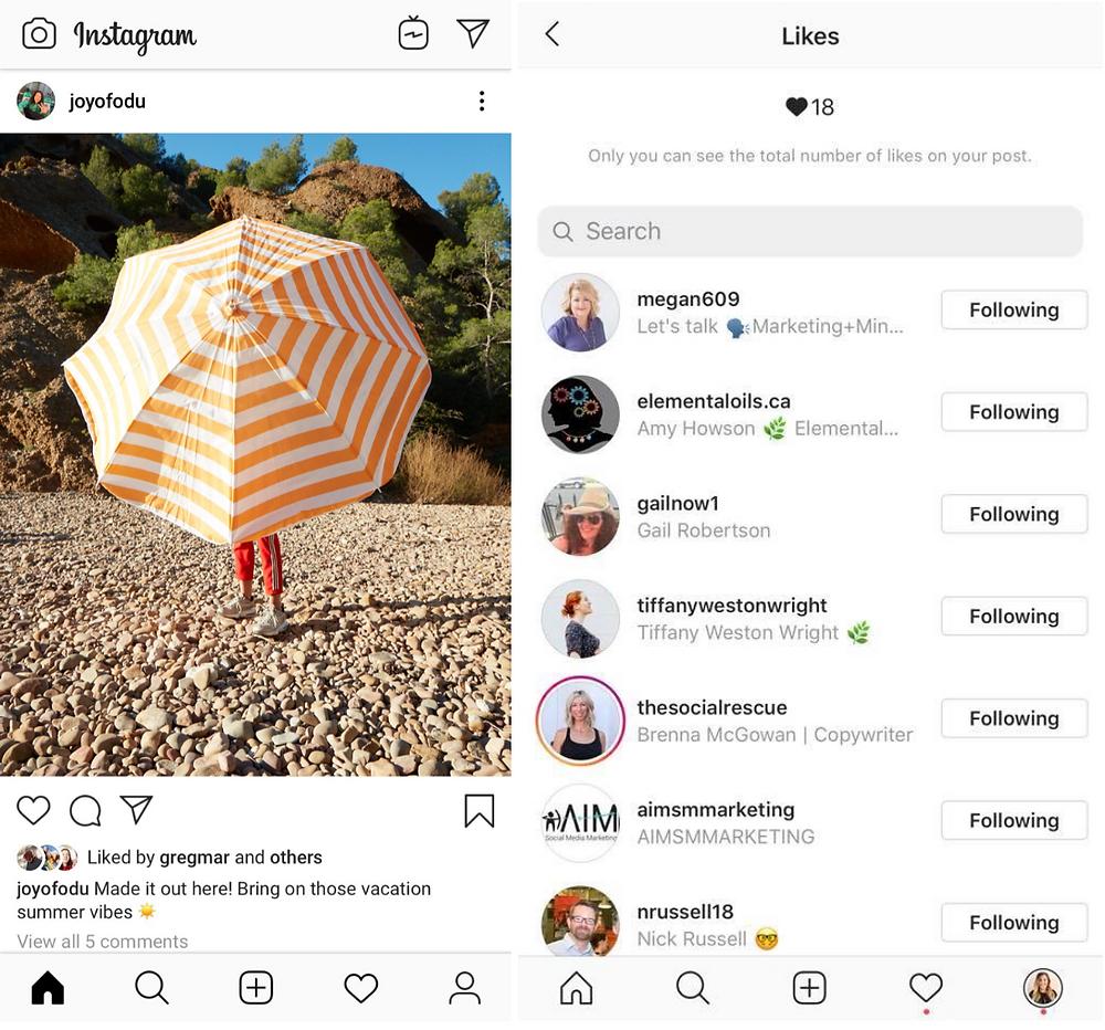 Screenshot Instagram Hides Likes