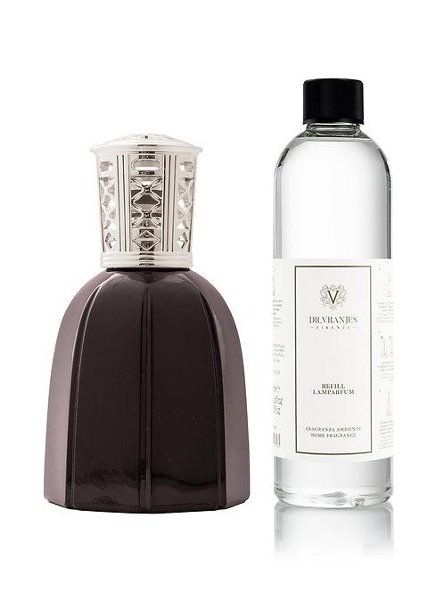 Black Lamparfum with Classic Silver Cap + 500ml Lamparfum refill