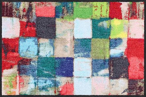 Salonloewe Floor Mat Design - Colourful Squares (50 X 75)