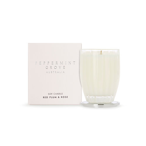 Peppermint Grove Australia 200g Candle - Red Plum & Rose