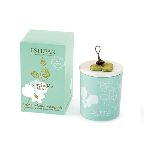 Esteban Paris Parfums Classic Orchidee blanche Candle Decorative (170G)