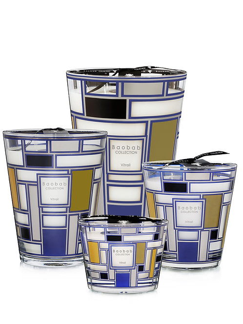 Vitrail Silver Candle