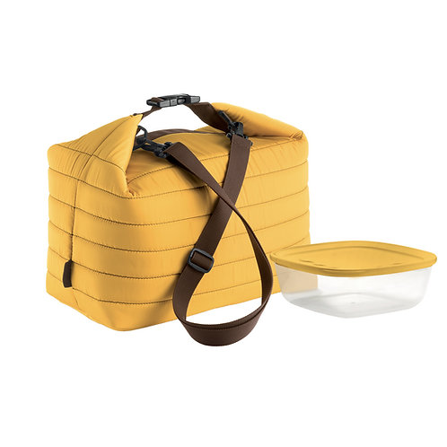 Large Thermal Bag w/ Airtight Container - Handy (Ochre)