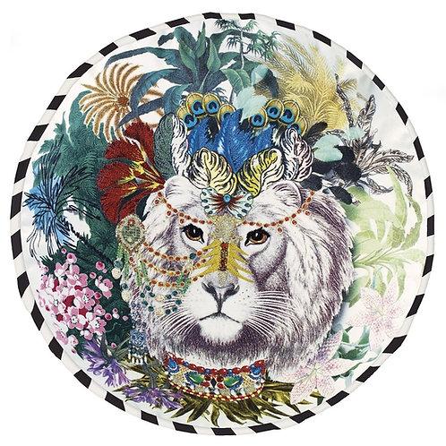 Christian Lacroix Jungle King Opiat Cushion (45 cm Dia.)