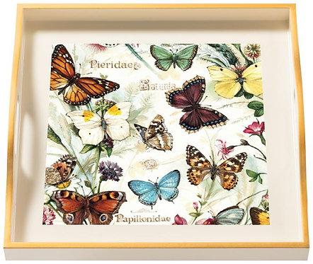 Butterflies, Small Cream Tray