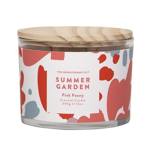 TAC Summer Garden Candle - Pink Peony (340g)