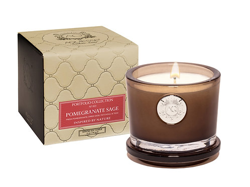 Aquiesse Portfolio Small Soy Boxed Scented Candle - Pomegranate Sage (5oz)