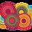 Thumbnail: Kleen-Tex wash+dry Floor Mat Design -  Cosmic Colours