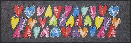 Salonloewe Floor Mat Design - Funky Hearts Home (60 X 180)