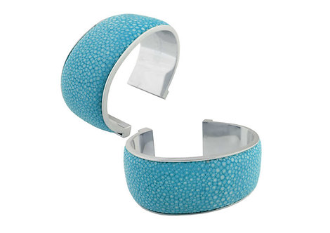 Giobagnara Elisee Open Bracelet (3 cm) - Light Blue