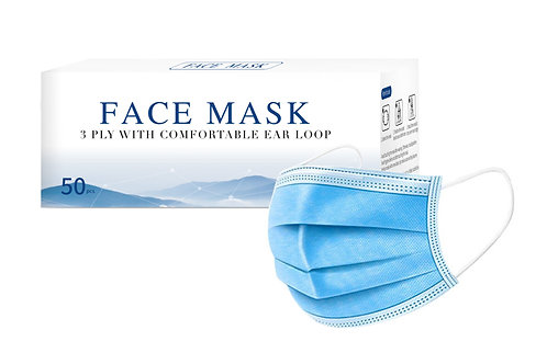 3 Ply Surgical Face Mask w/ Ear Loop (50pcs/box)