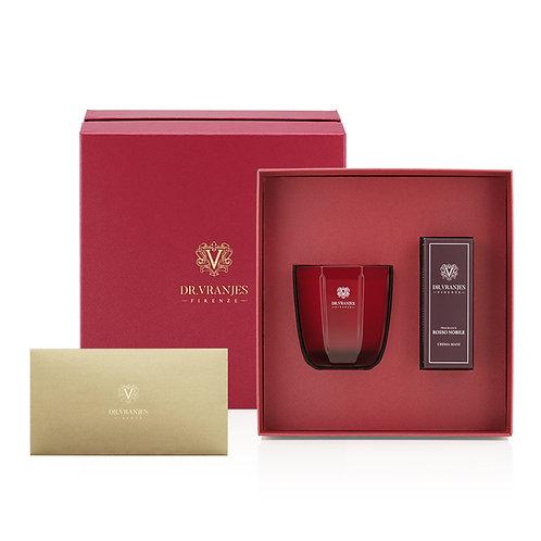 Dr. Vranjes Rosso Nobile 200g Candle + 50ml Hand Cream Gift Set
