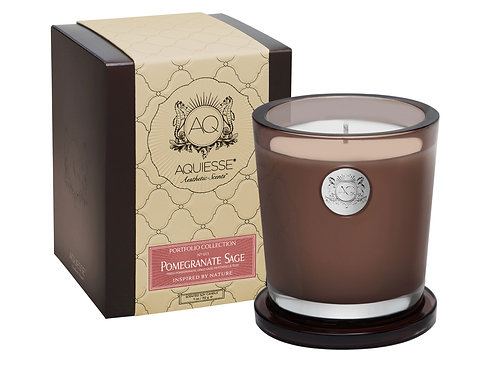 Aquiesse Portfolio Large Soy Boxed Scented Candle - Pomegranate Sage (11oz)
