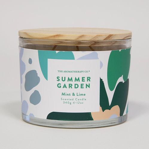 TAC Summer Garden Candle - Mint & Lime (340g)