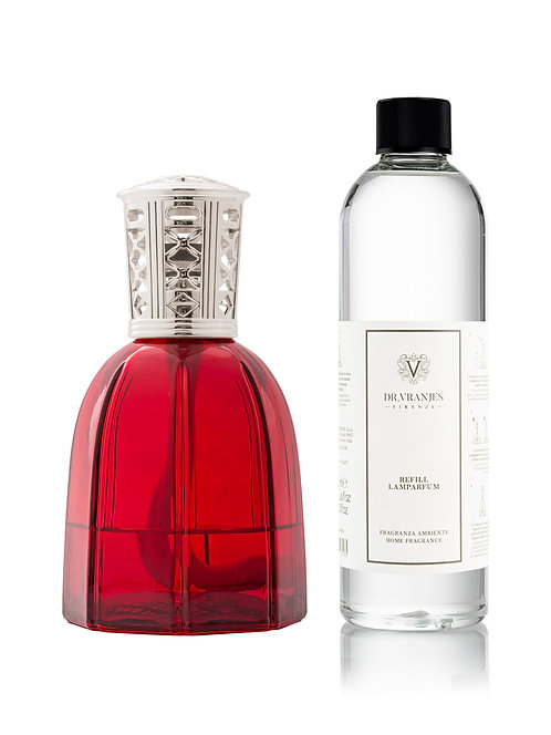 Rubino Red Lamparfum with Classic Silver Cap + 500ml Lamparfum refill