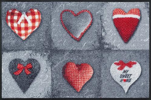 Kleen-Tex wash+dry Floor Mat Design - My Sweet Home Grey