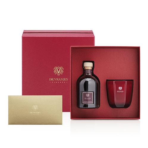 Dr. Vranjes Rosso Nobile 250ml Diffuser + 200g Candle Gift Set