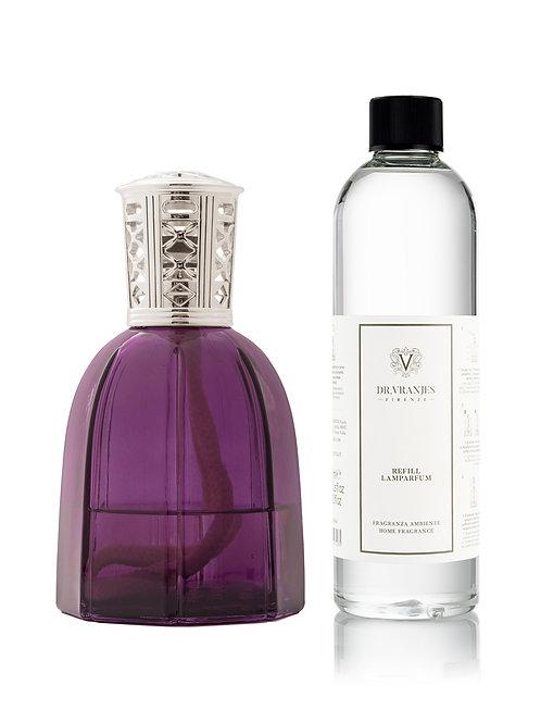 Purple Lamparfum with Classic Silver Cap + 500ml Lamparfum refill