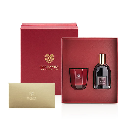 Dr. Vranjes Rosso Nobile 80g Candle + 100ml Spray Gift Set