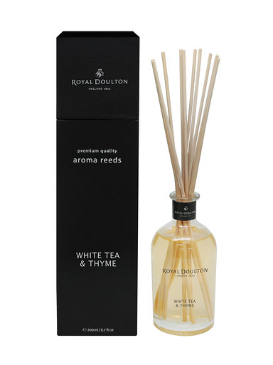 White Tea & Thyme Aroma Reeds Black Diffuser (200ml)