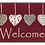 Thumbnail: Kleen-Tex wash+dry Floor Mat Design -  Cottage Hearts Red