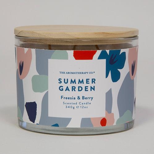 TAC Summer Garden Candle - Freesia & Berry (340g)