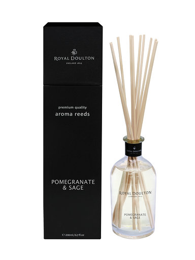 Pomegranate & Sage Aroma Reeds Black Diffuser (200ml)