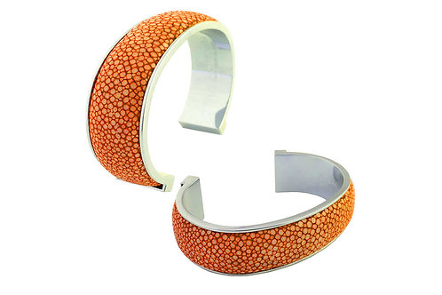 Giobagnara Elisee Open Bracelet (2 cm) - Orange