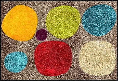 Salonloewe Floor Mat Design - Broken Dots Colourful